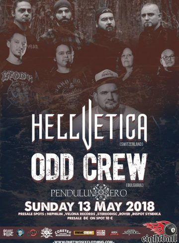Hellvetica – Odd Crew – Pendulum Zero | LIVE