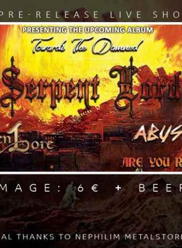 Serpent Lord pre-release live show with guests