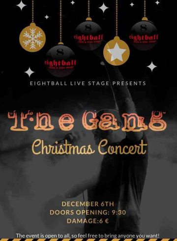The Gang Live at Eightball! Thursday 6.12.18