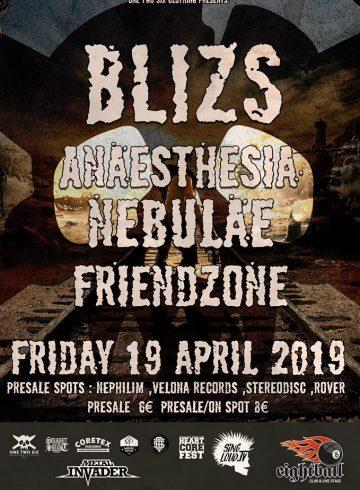Blizs/Anaesthesia/Nebulae/Friendzone Live at 8ball