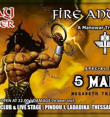 FIRE and STEEL – A Manowar Tribute Band-Special Guests: 5 Magics