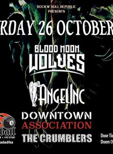 Blood Moon Wolves, Angelinc, Downtown Association, The Crumblers