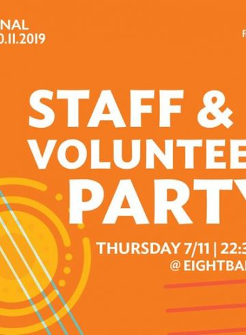 Staff & Volunteer Party at Eightball