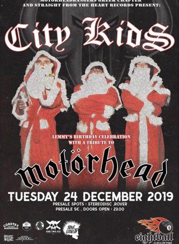 City Kids Tribute to Motorhead . Lemmy's Birthday Celebration
