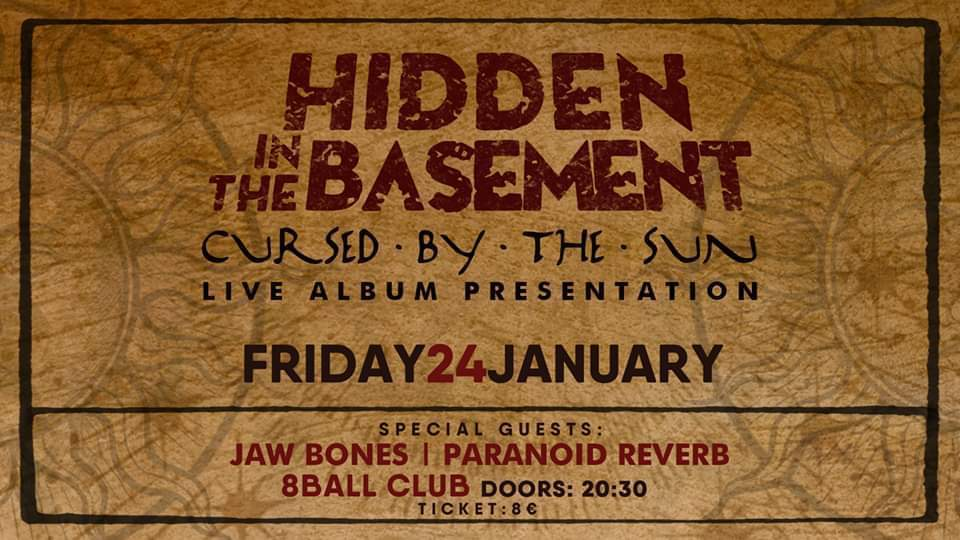 Hidden in the basement Live album presentation in Thessaloniki!